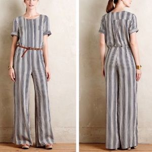Anthropologie Harlyn Striped Jumpsuit